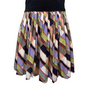 Banana Republic Multicolor Pleated Mini Skirt 0